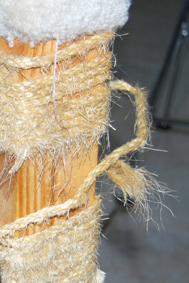scratching post in need of new sisal