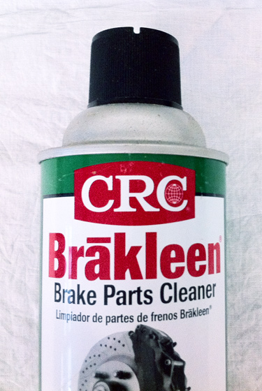 Brakleen brake cleaner, for stripping the chairs