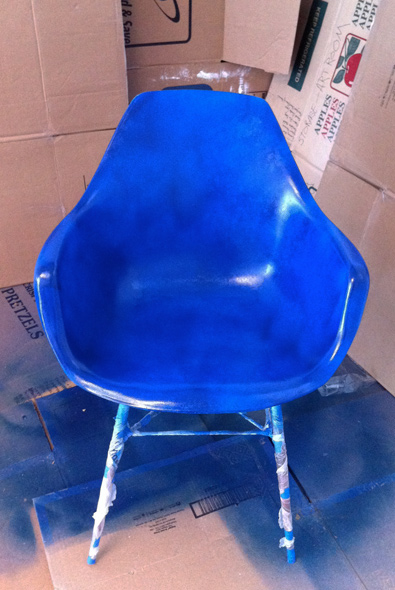 Chair after more than four coats