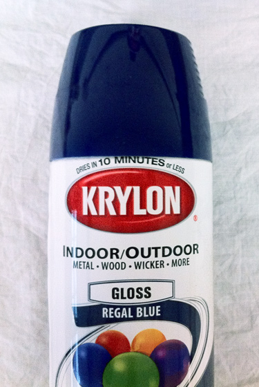 Krylon blue spray paint